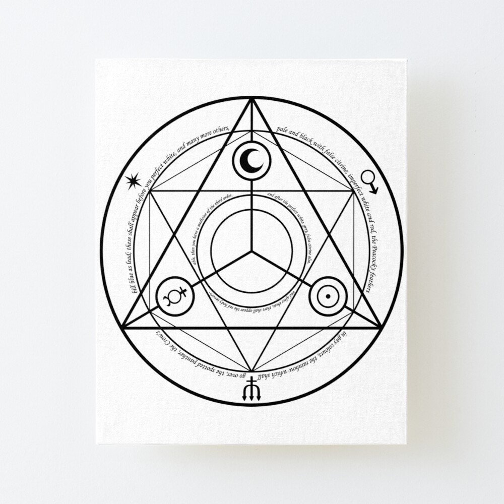 Alchemy Symbol,   ur,mounted_print_canvas_portrait_small_front,square,1000x1000