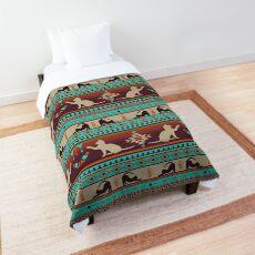 Boho cats | Domestic house cat sunset Comforter