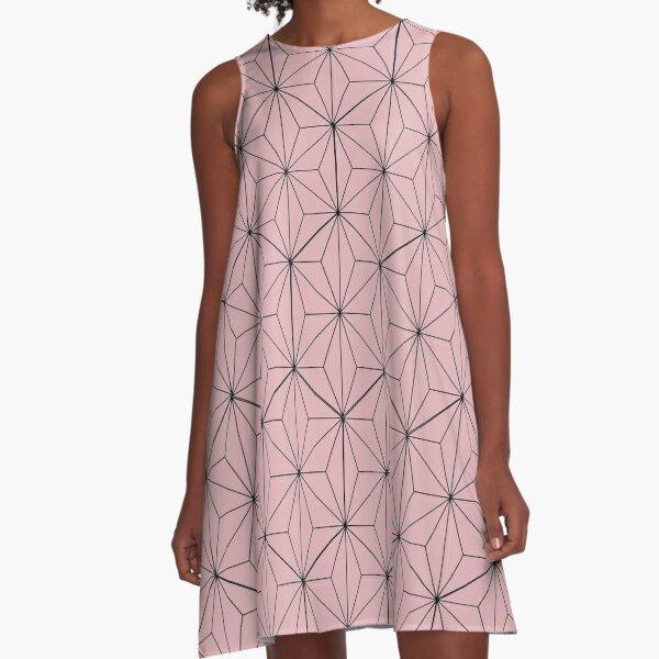 Nezuko pattern A-Line Dress
