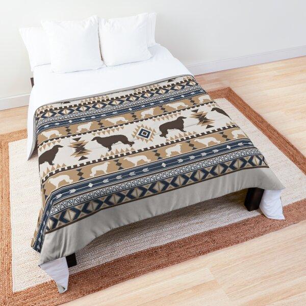 Boho dogs   Borzoi/ Russian wolfhound tan Comforter