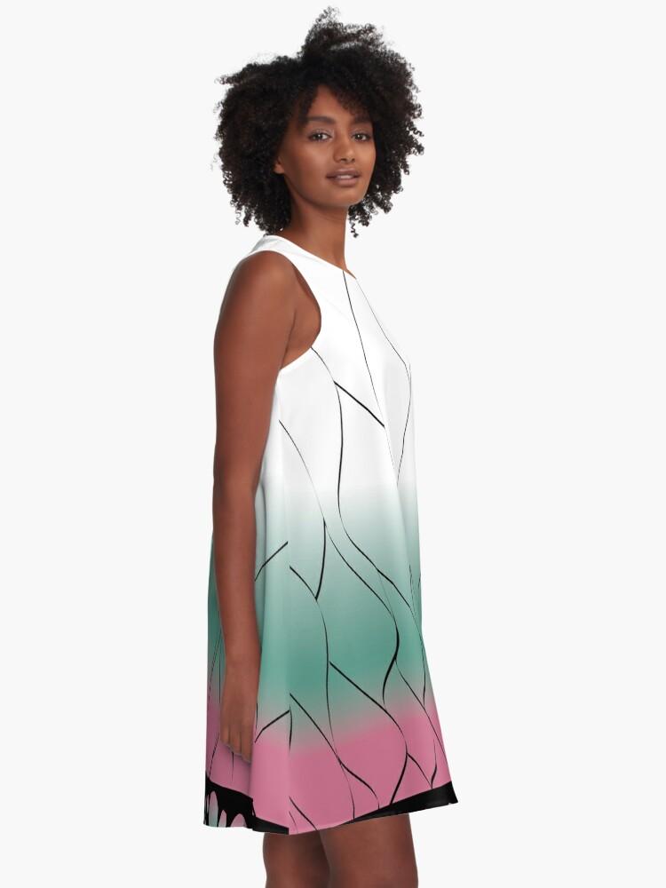 Alternate view of Shinobu pattern A-Line Dress