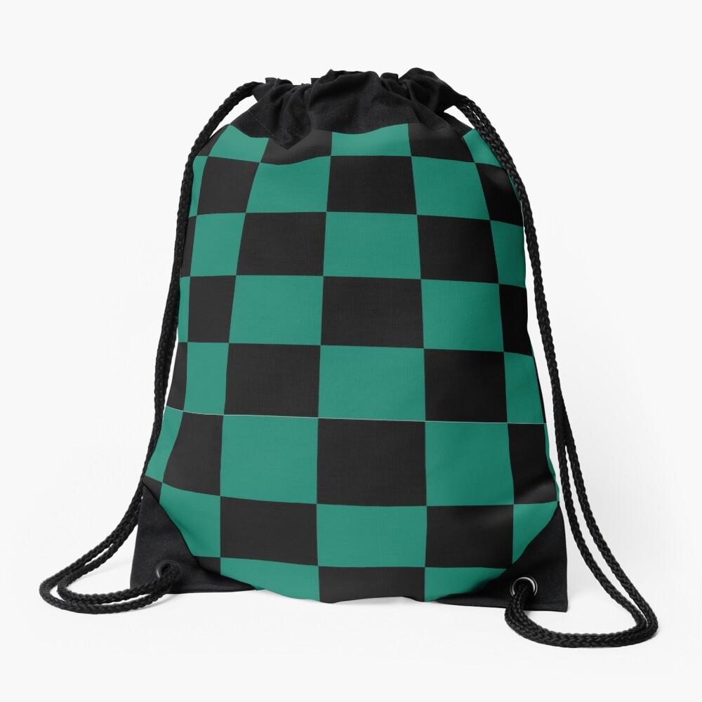 Tanjiro pattern Drawstring Bag