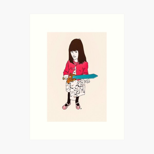 My favorite lil assassin Art Print
