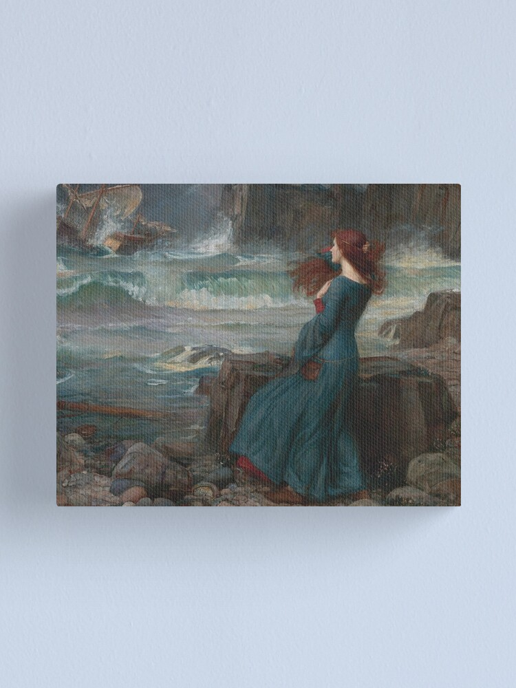 Alternate view of Miranda - The Tempest, 1916 John William Waterhouse Canvas Print