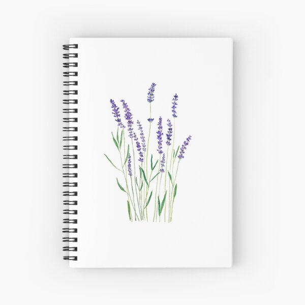 lavande violette Cahier à spirale