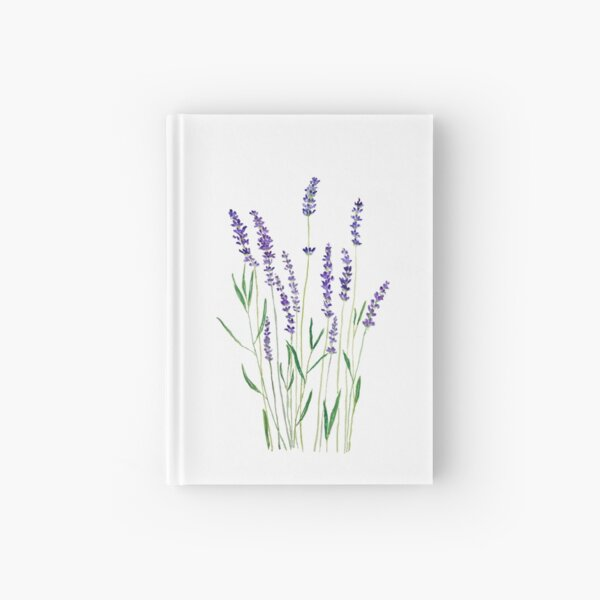purple lavender  Hardcover Journal