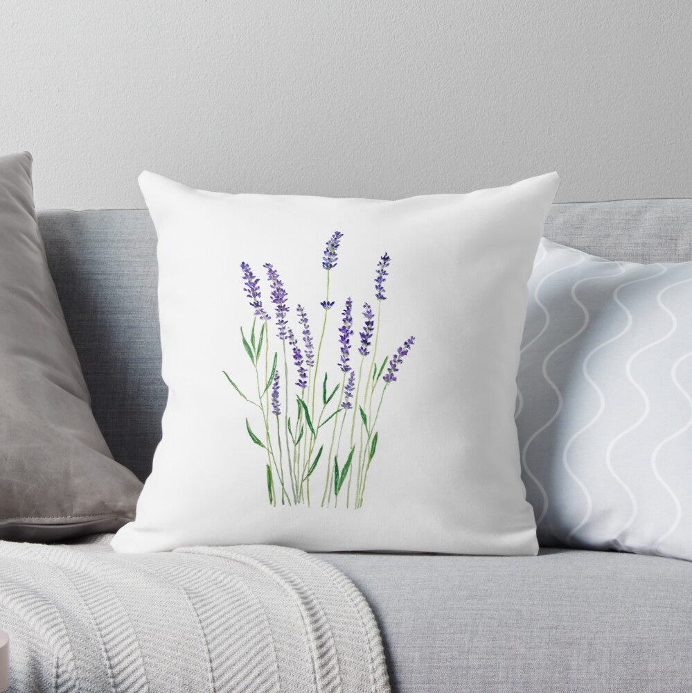 purple lavender  Throw Pillow