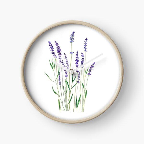 purple lavender  Clock