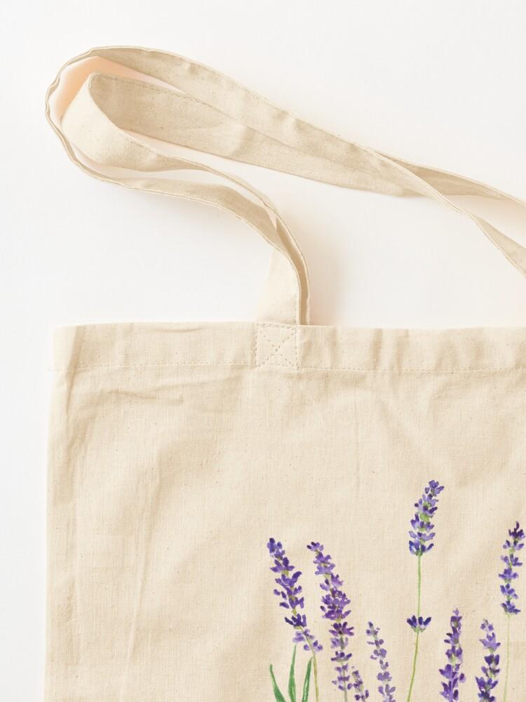 Alternate view of purple lavender  Tote Bag