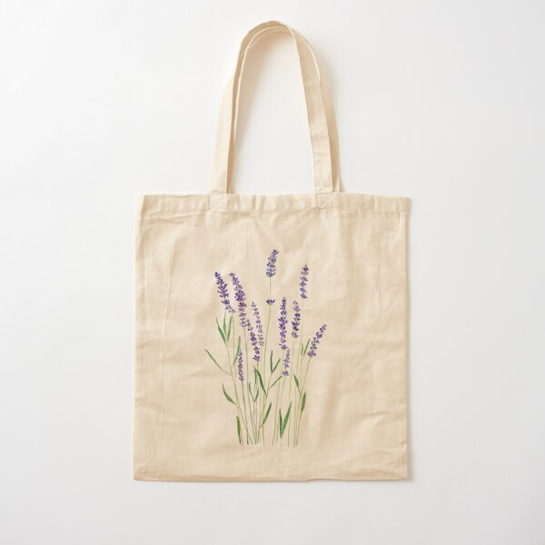purple lavender  Cotton Tote Bag