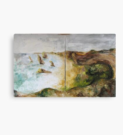 Grate Ocean Road - in winter weather Canvas Print