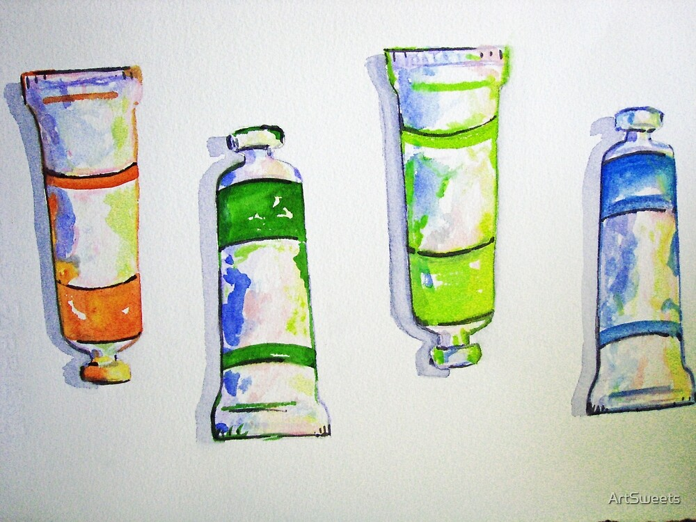 Tubes of Paint by Loretta Barra