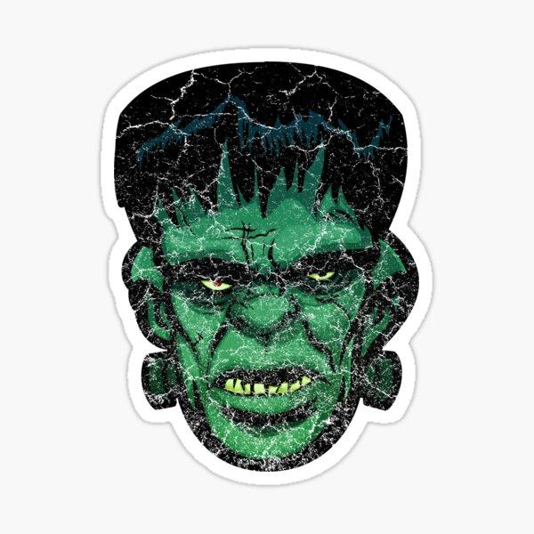 Retro Comic Book Frankenstein's Monster Distressed Sticker