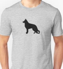 German Shepherd Dog Silhouette(s) Unisex T-Shirt