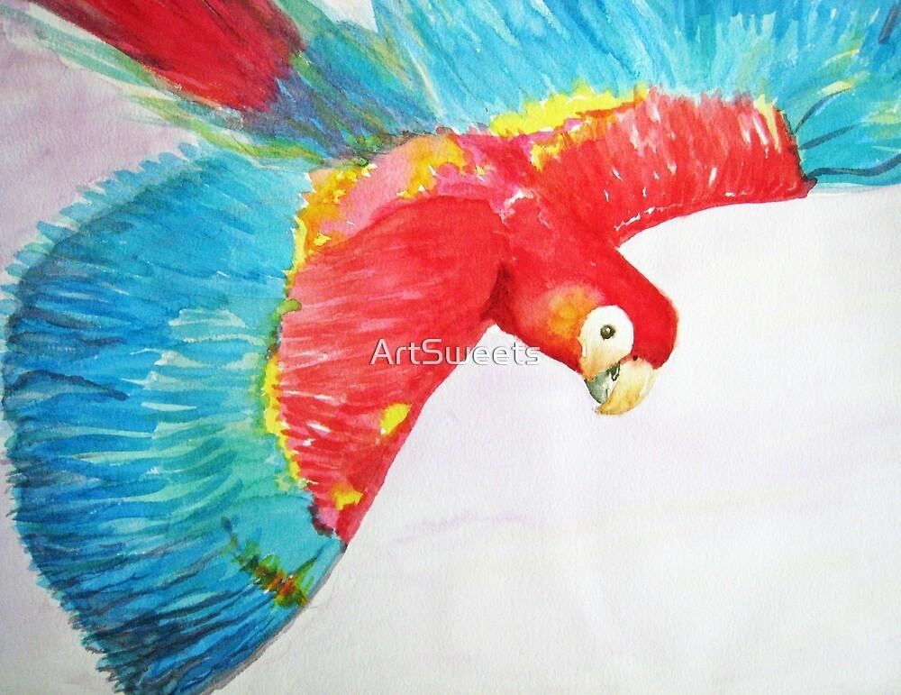 Parrot takes Flight by Loretta Barra