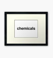 chemicals Framed Print