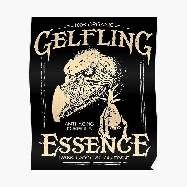 Organic Essence gelfling Dark Crystals 80s Film Wall Decor Poster No Framed