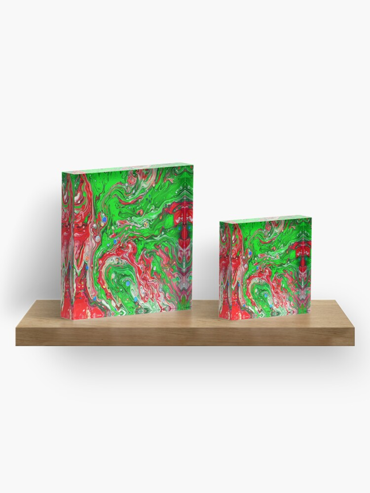 Alternate view of Abstraction #C Acrylic Block