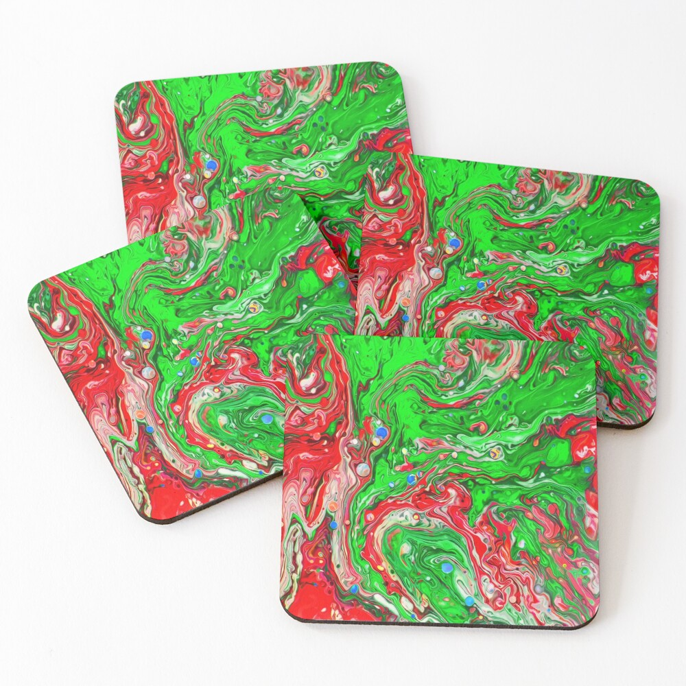 Abstraction #C Coasters (Set of 4)
