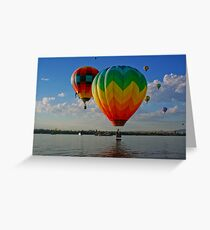 Hot-Air Balloons Greeting Card