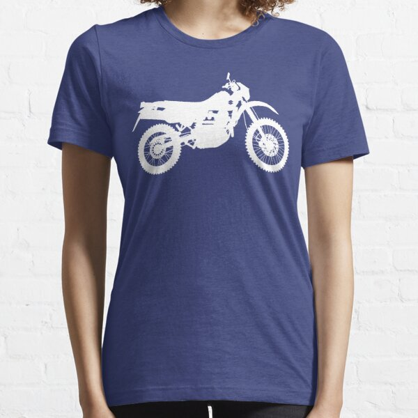 DR650 Motorcycle Silhouette - White Essential T-Shirt