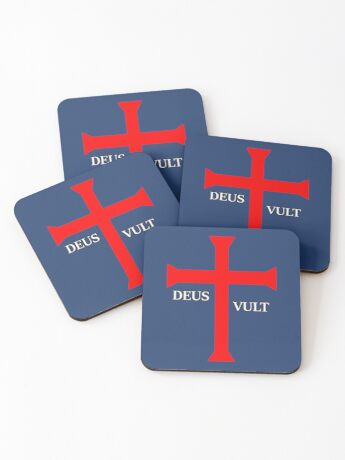 DEUS VULT (God wills it!) Coasters