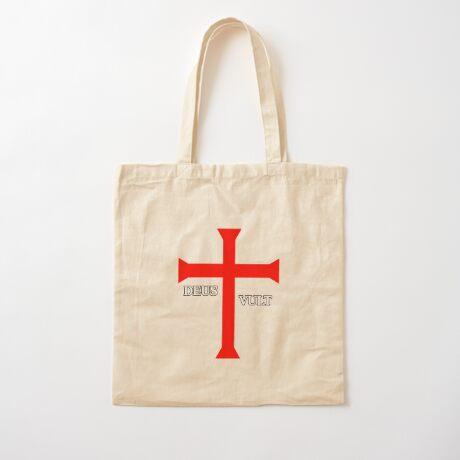 DEUS VULT (God wills it!) Cotton Tote Bag