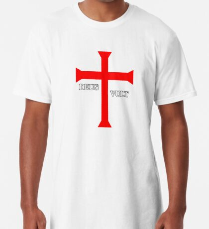 DEUS VULT (God wills it!) Long T-Shirt