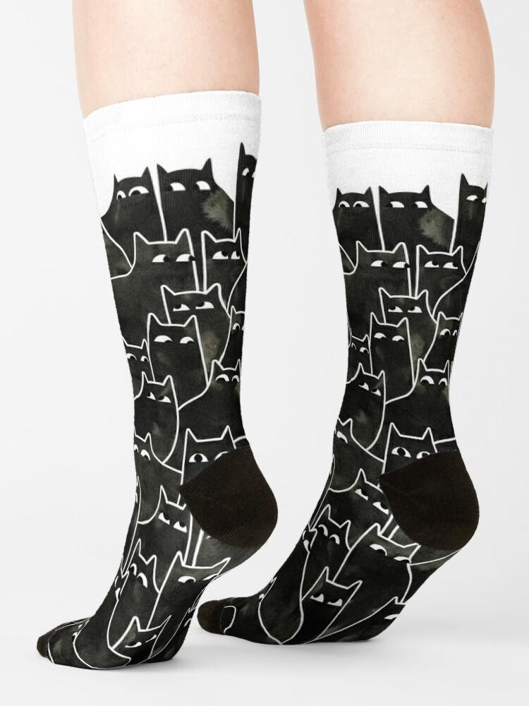 Alternate view of Suspicious Cats Socks