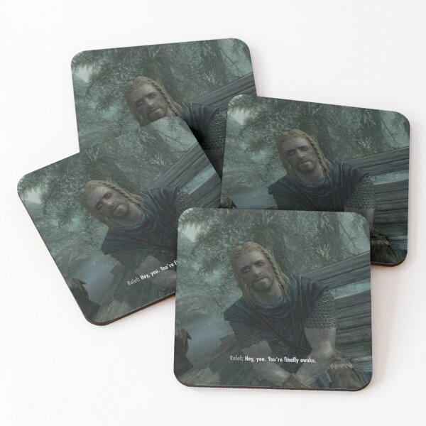 You're finally awake Coasters (Set of 4)