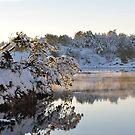 Christmas day by the fjord by Annbjørg  Næss