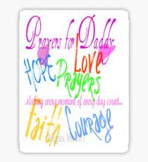 Prayers for Daddy Sticker