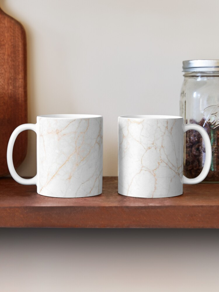 Alternate view of White Marble with Gold Glitter Veins Mug