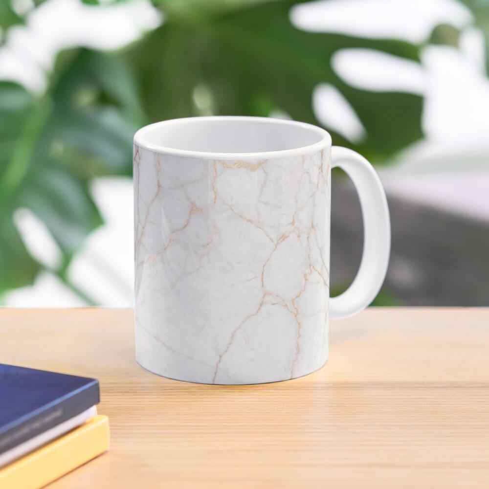 White Marble with Gold Glitter Veins Mug
