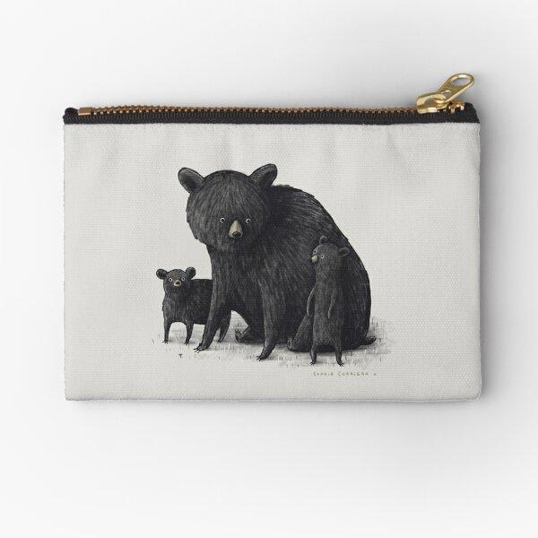 Black Bear Family Zipper Pouch