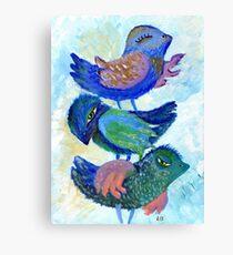 Bird Brings Good Luck. Children Canvas Print