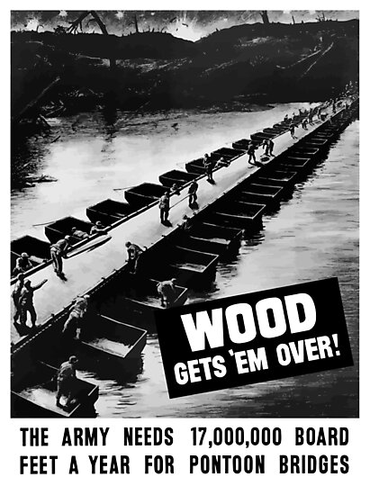 Wood Gets 'Em Over -- WWII by warishellstore