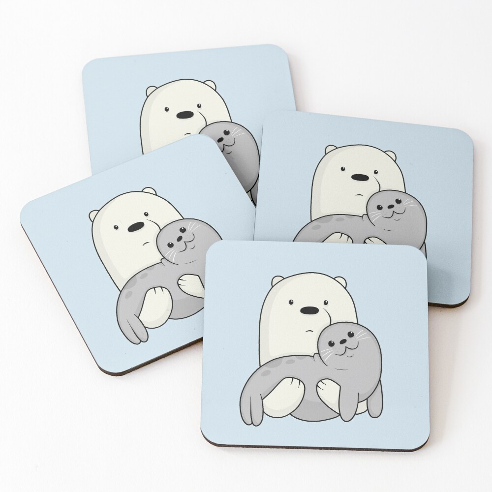 Ice Bear and Seal  Coasters (Set of 4)