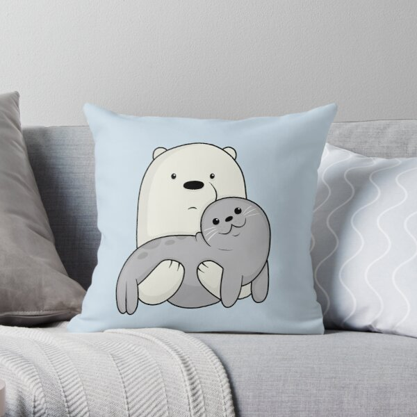 Ice Bear and Seal  Throw Pillow