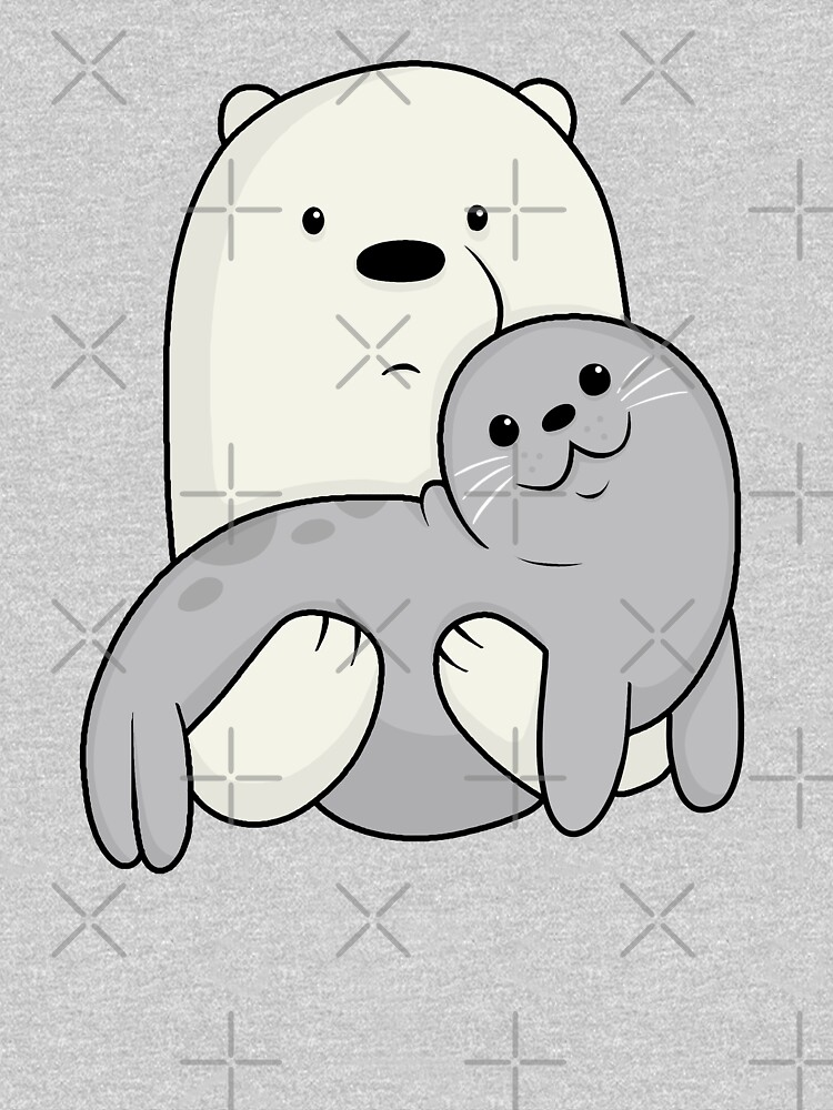 Ice Bear and Seal  by ValentinaHramov