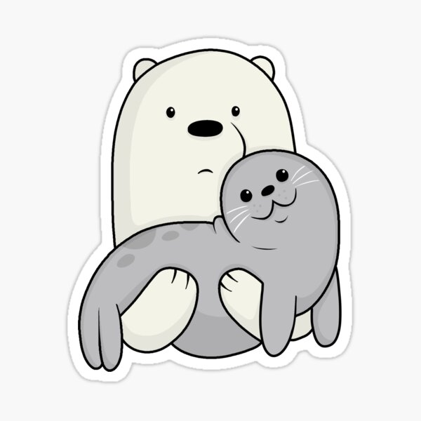 Ice Bear and Seal Pegatina