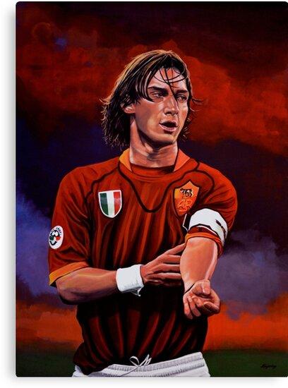Francesco Totti painting by PaulMeijering