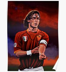 Francesco Totti painting Poster