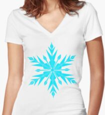 Frozen Fractals Women's Fitted V-Neck T-Shirt