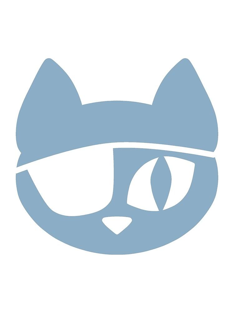 Pirate Cat Blue by DeliriumLina