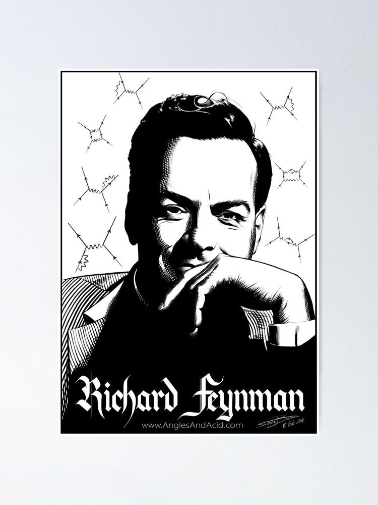 Alternate view of Richard Feynman Poster