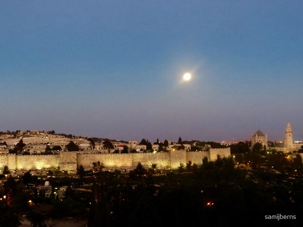 Jerusalem at Night by samijberns