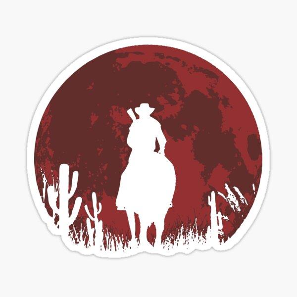 lune rouge Sticker