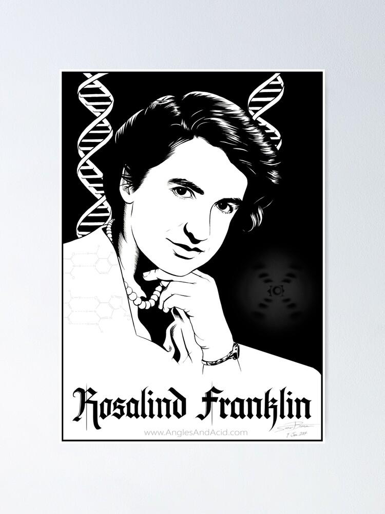 Alternate view of Rosalind Franklin Poster