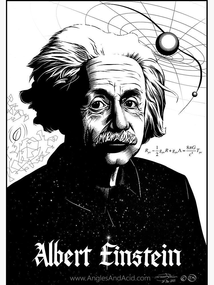Albert Einstein by AnglesAndAcid